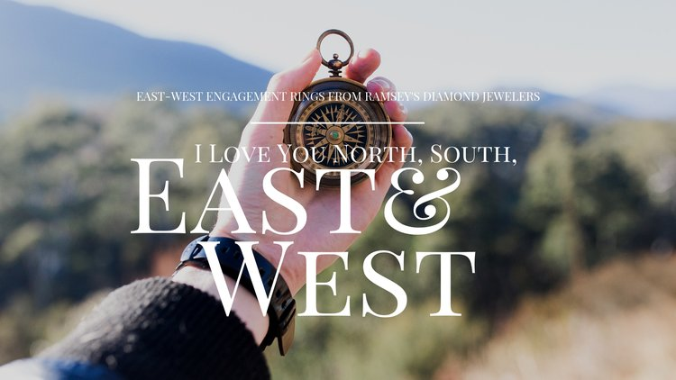 Take your style in a new direction with East-West engagement rings!