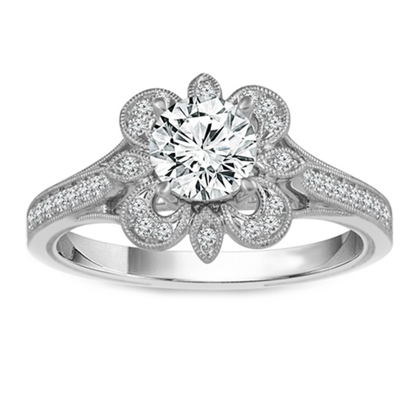 Ornate Halo Engagement Rings