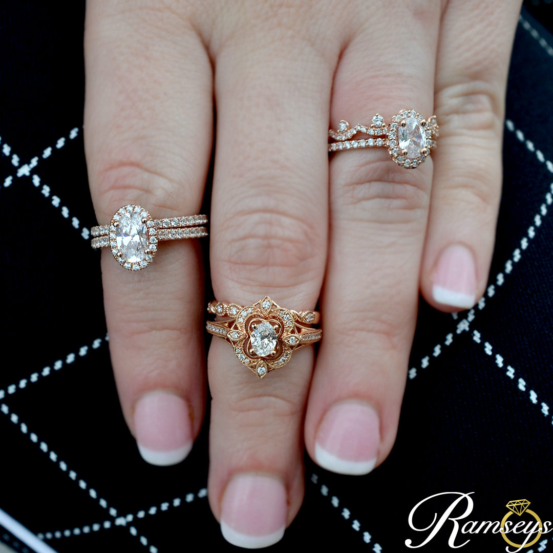Jan 23 rose gold halo rings
